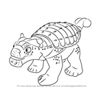How to Draw Hank Ankylosaurus from Dinosaur Train