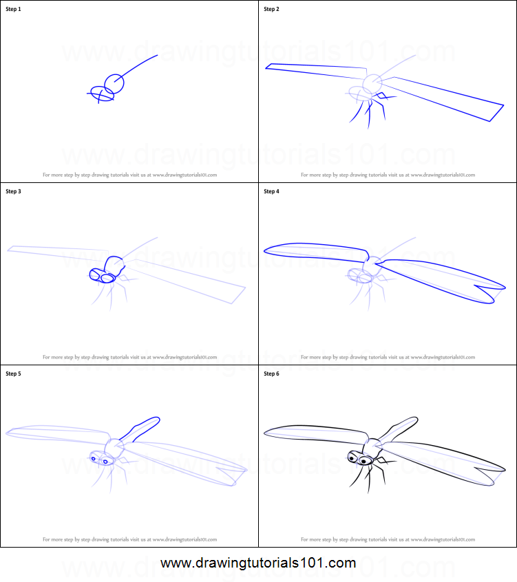 How to draw howard dragonfly from dinosaur train printable step by step drawing sheet drawingtutorials101 com