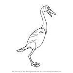 How to Draw Jess Hesperornis from Dinosaur Train