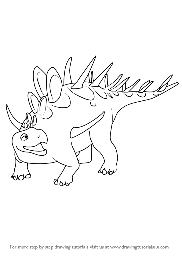 Learn How to Draw Kenny Kentrosaurus