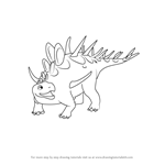 How to Draw Kenny Kentrosaurus from Dinosaur Train