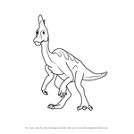 How to Draw Larry Lambeosaurus from Dinosaur Train