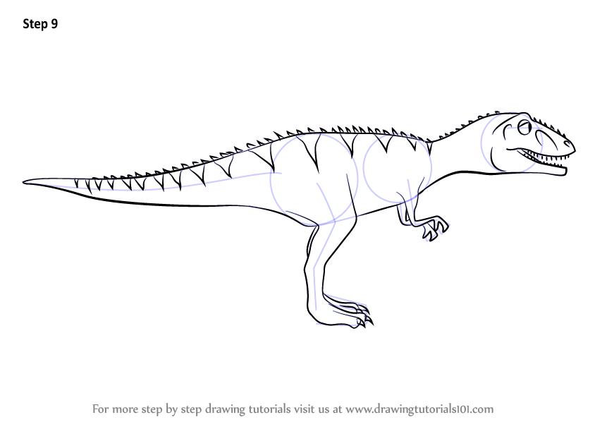 Learn How to Draw Laura Giganotosaurus