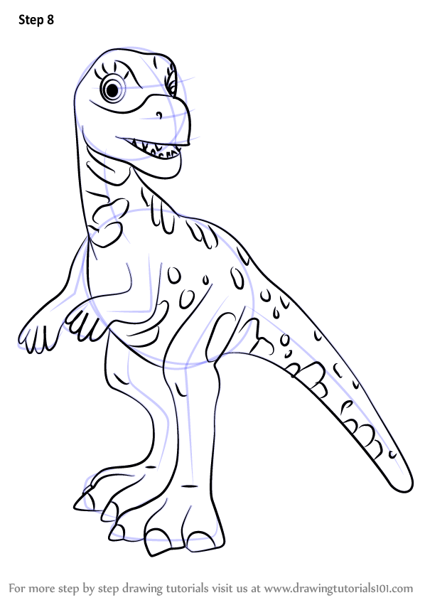 Learn How To Draw Leslie Lesothosaurus From Dinosaur Train