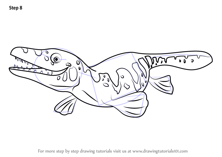 Learn How to Draw Maisie Mosasaurus