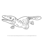 How to Draw Maisie Mosasaurus from Dinosaur Train