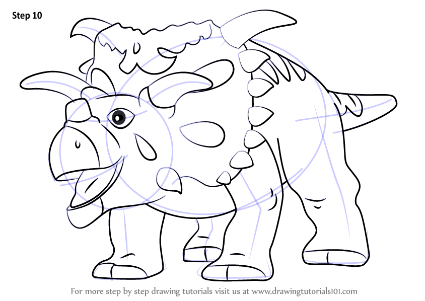 Learn How To Draw Mayor Kosmoceratops From Dinosaur Train