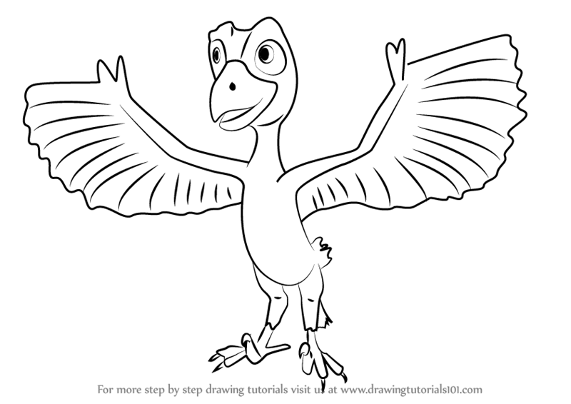 microraptor coloring pages - photo#11