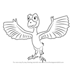 How to Draw Mikey Microraptor from Dinosaur Train