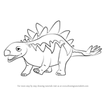 How to Draw Morris Stegosaurus from Dinosaur Train