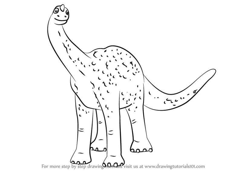 Learn How To Draw Mr Argentinosaurus From Dinosaur Train