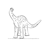 How to Draw Mr. Argentinosaurus from Dinosaur Train