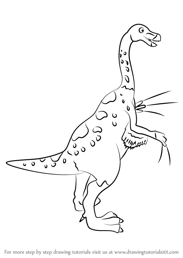 Learn How to Draw Mr Therizinosaurus