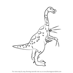 How to Draw Mr. Therizinosaurus from Dinosaur Train