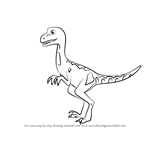 How to Draw Mrs. Deinonychus from Dinosaur Train