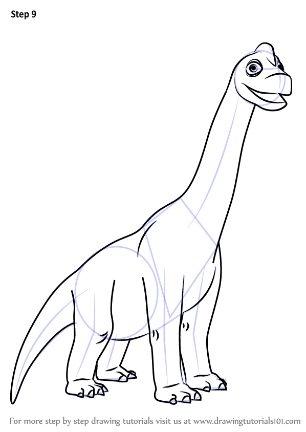 Learn How to Draw Ned Brachiosaurus