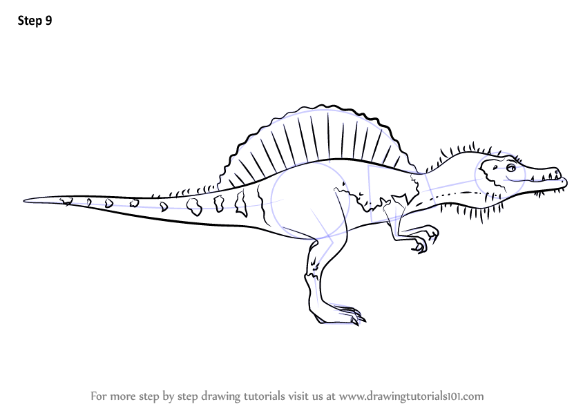 how to draw a baby dinosaur step by step
