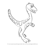 How to Draw Oren Ornithomimus from Dinosaur Train