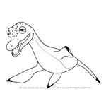 How to Draw Paulie Pliosaurus from Dinosaur Train