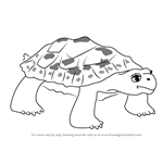 How to Draw Pauline Proganochelys from Dinosaur Train