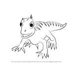 How to Draw Percy Paramacellodus from Dinosaur Train