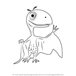 How to Draw Petey Peteinosaurus from Dinosaur Train