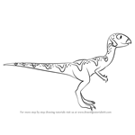How to Draw Quinn Quantassaurus from Dinosaur Train