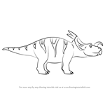 How to Draw Ralph Einiosaurus from Dinosaur Train