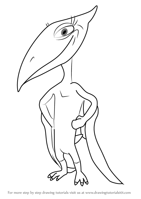 learn how to draw shiny pteranodon from dinosaur train dinosaur