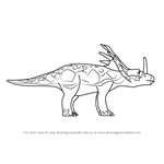 How to Draw Sonja Styracosaurus from Dinosaur Train