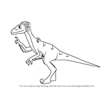 How to Draw Soren Sauronitholestes from Dinosaur Train