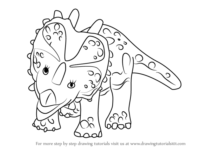 pliosaurus coloring pages | Learn How to Draw Stephie Styracosaurus from Dinosaur ...