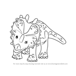 How to Draw Stephie Styracosaurus from Dinosaur Train