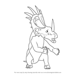 How to Draw Stuart Styracosaurus from Dinosaur Train
