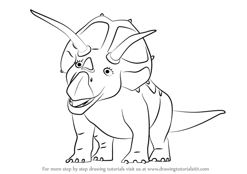 How To Draw A Dinosaur Head For Kids
