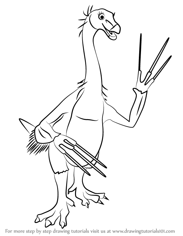 Learn How to Draw Terry Therizinosaurus