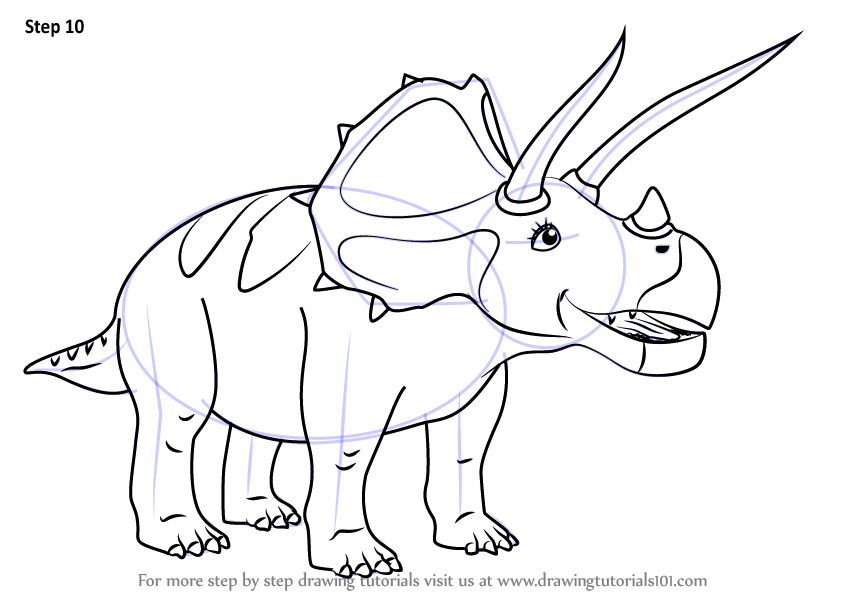 Learn How to Draw Todd Triceratops