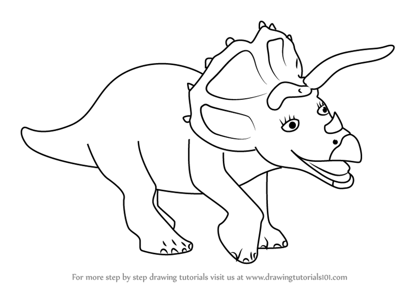 learn how to draw trudy triceratops from dinosaur train dinosaur train step by step drawing. Black Bedroom Furniture Sets. Home Design Ideas