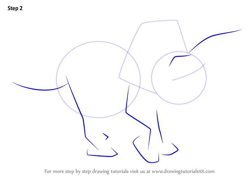 how to draw a triceratops step by step