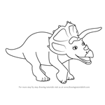 How to Draw Trudy Triceratops from Dinosaur Train