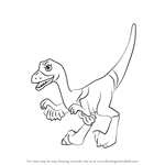 How to Draw Velma Velociraptor from Dinosaur Train