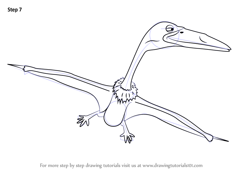 Learn How to Draw Ziggy Zhejiangopterus from Dinosaur ...