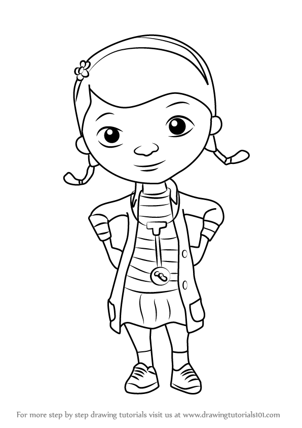 Learn How to Draw Doc from Doc McStuffins (Doc McStuffins) Step by ...
