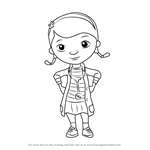 How to Draw Doc from Doc McStuffins