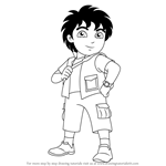 How to Draw Diego from Dora the Explorer