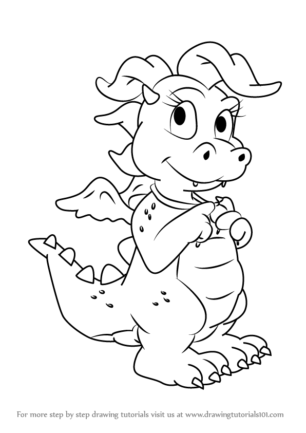 Learn How To Draw Cassie From Dragon Tales Dragon Tales