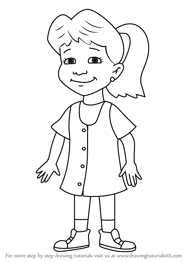 Learn How To Draw Emmy From Dragon Tales Dragon Tales Step
