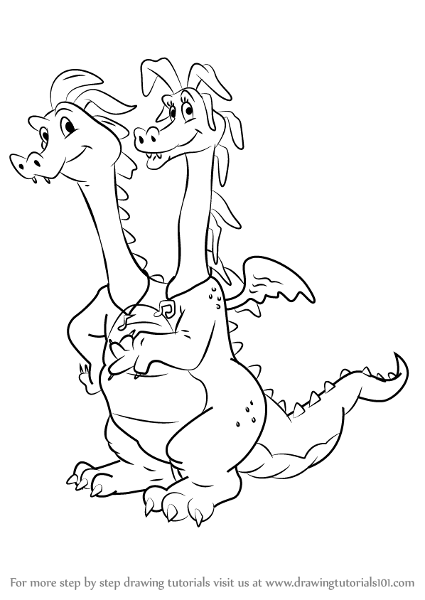 Learn How To Draw Zak And Wheezie From Dragon Tales