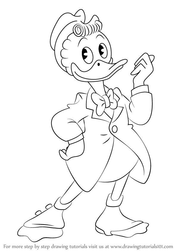 Learn How To Draw Gladstone Gander From Ducktales