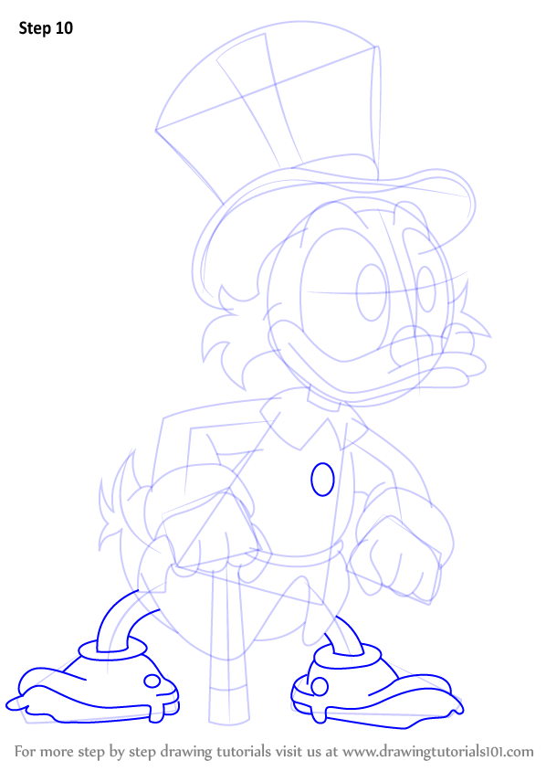 Learn How To Draw Scrooge Mcduck From Ducktales Ducktales